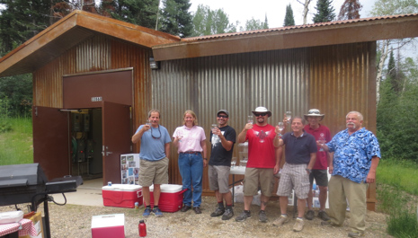 Pictured celebrating the new Timbers Water and Sanitation District treatment plant are, from left, Tim Gibbons, water system operator; Mary Andre, of Civil Design Consultants; board members Ash Lesniak, Brock Knez and Ron Krall; Duckels Construction's Terry Mikolaiczik; and Civil Design Consultants' Randy Hurley.