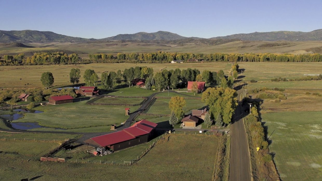 The roughly 800-acre Elk River Ranch 10 miles north of Steamboat Springs includes a main home and several other residences.