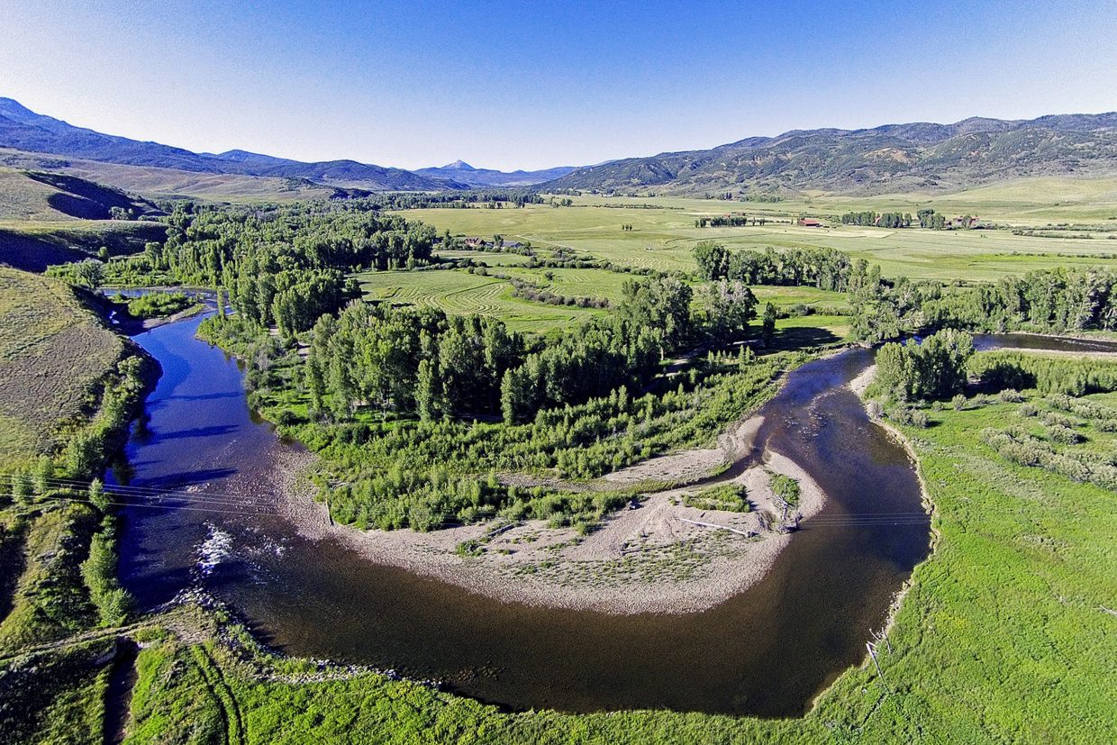 The Elk River Ranch includes 1.5 miles of the Elk River, with property on both sides of the river.
