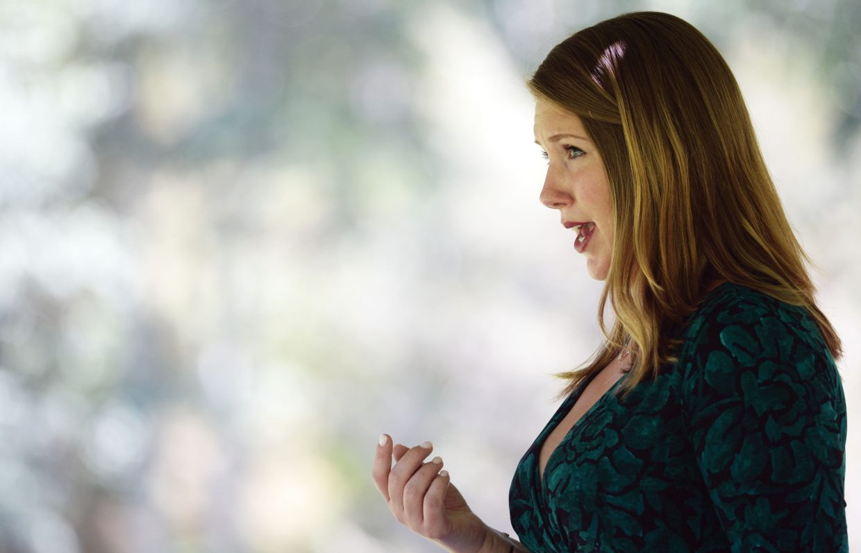 Opera singer Alexandra Scheulerer performs with the Emerald City Opera at the Yampa River Botanic Park Thursday as part of the Strings Music Festival's Music on the Green.