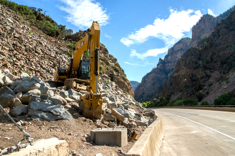 Rock mitigation in Glenwood Canyon is being rescheduled due to high winds.