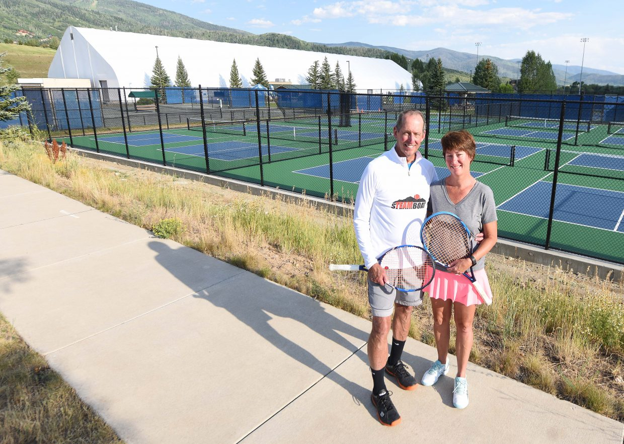 Jim and Stacy Swiggart have run the publicly owned Tennis Center at Steamboat Springs for 25 years. They'll step down this fall, but not before a Saturday party in their honor, coming in the midsts of the annual Steamboat Tennis Association tournament.