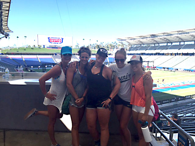 CrossFit Steamboat crew crushing the spectator event in style. Pictured, from left, are Sarah Coleman, Ronni Waneka, Dana Forbes, Keagan Scronek and Angela Marsh