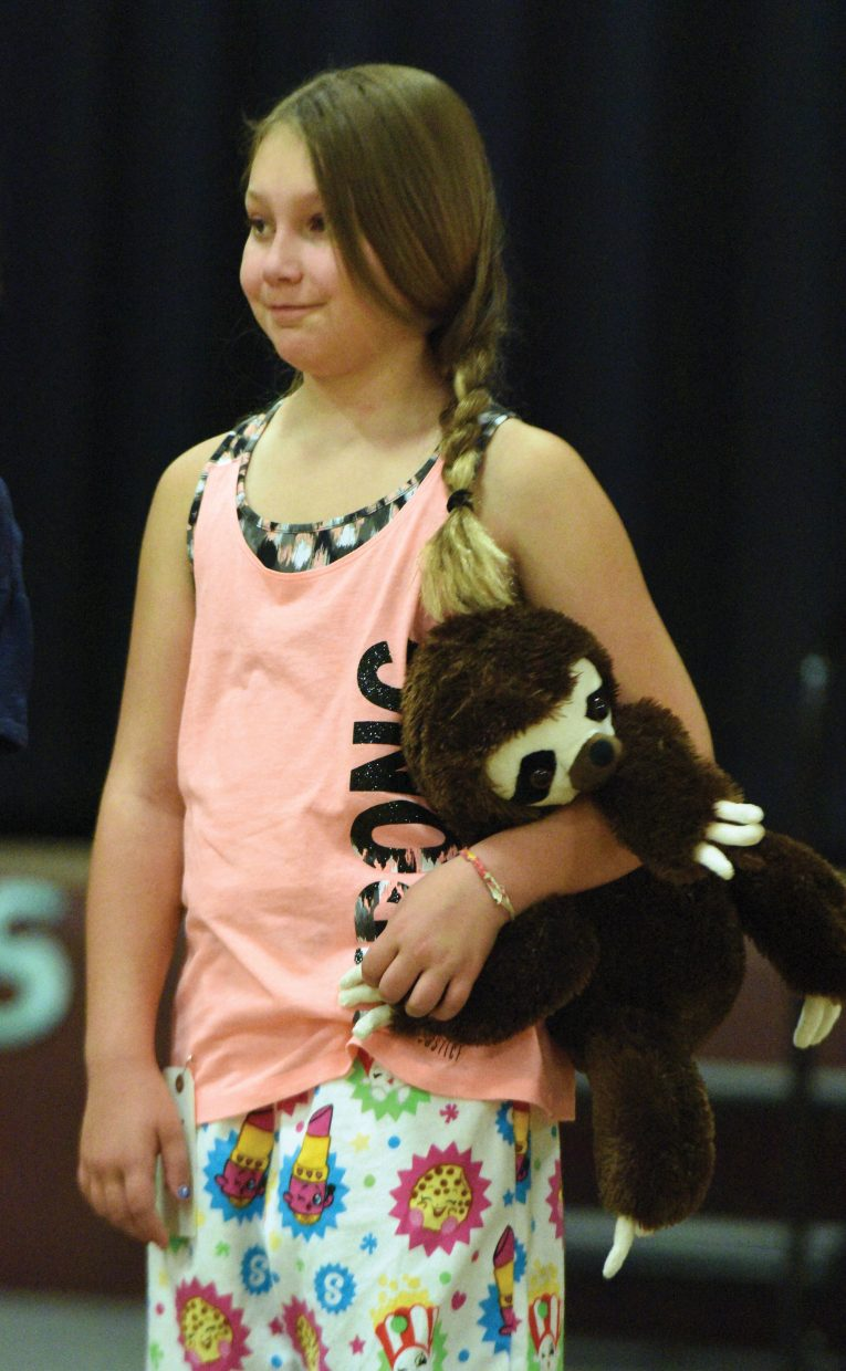 Lily Frinks models the pajamas she made as part of the 4-H sewing program this summer. On Friday, the young 4-H members got a chance to show off their new clothing at the 4_H Fashion Revue. The event anchored the Routt County 4-H Exhibit Day awards ceremony.