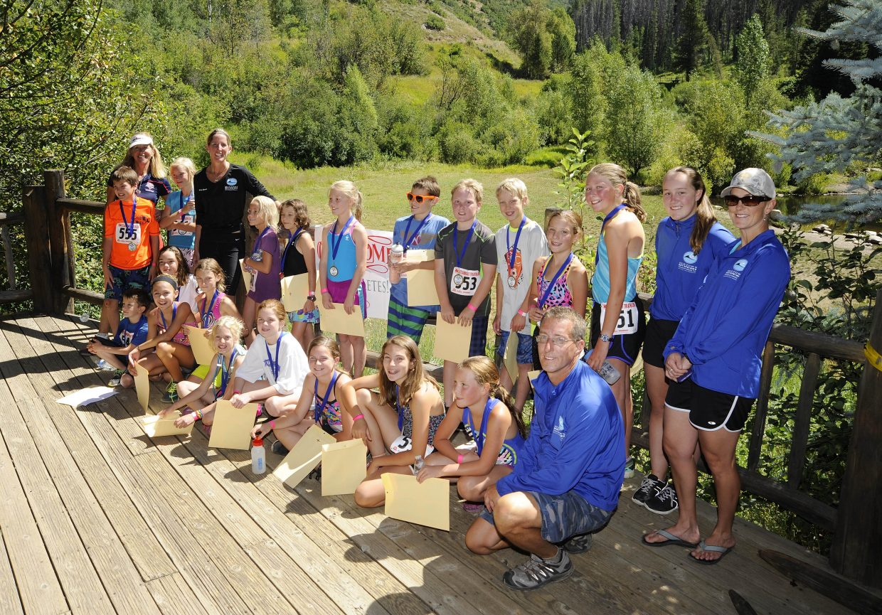 There were 25 athletes this year in the Old Town Hot Springs youth triathlon program.