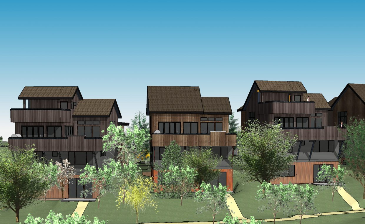 This rendering shows what a portion of the 21-home Flat Tops at Wildhorse Meadows might look like upon completion. Developers of the subdivision received the green light on the project July 19.