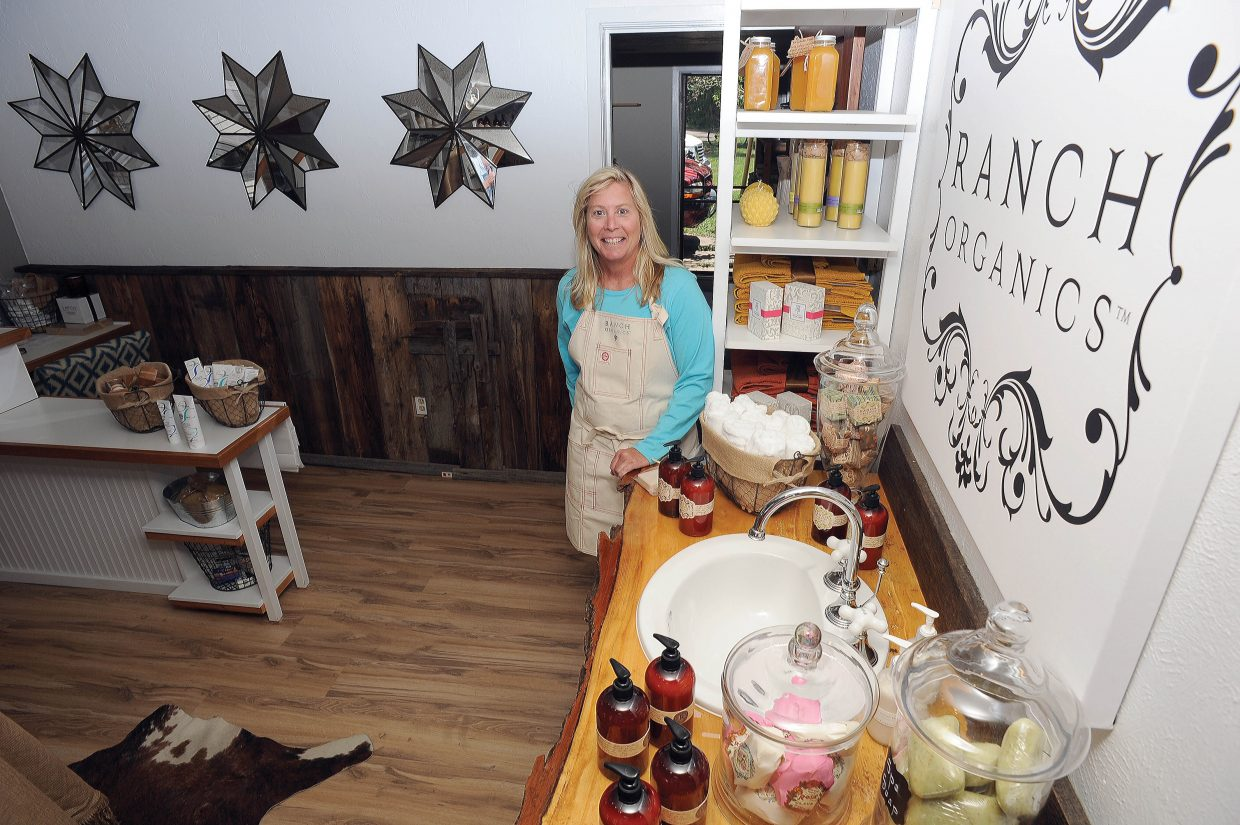 Debbie Dygert, owner of Ranch Organics, stands inside her new downtown Steamboat Springs store on Fifth Street. Dygert said the company still plans to do most of its business online but having a storefront is an added bonus.