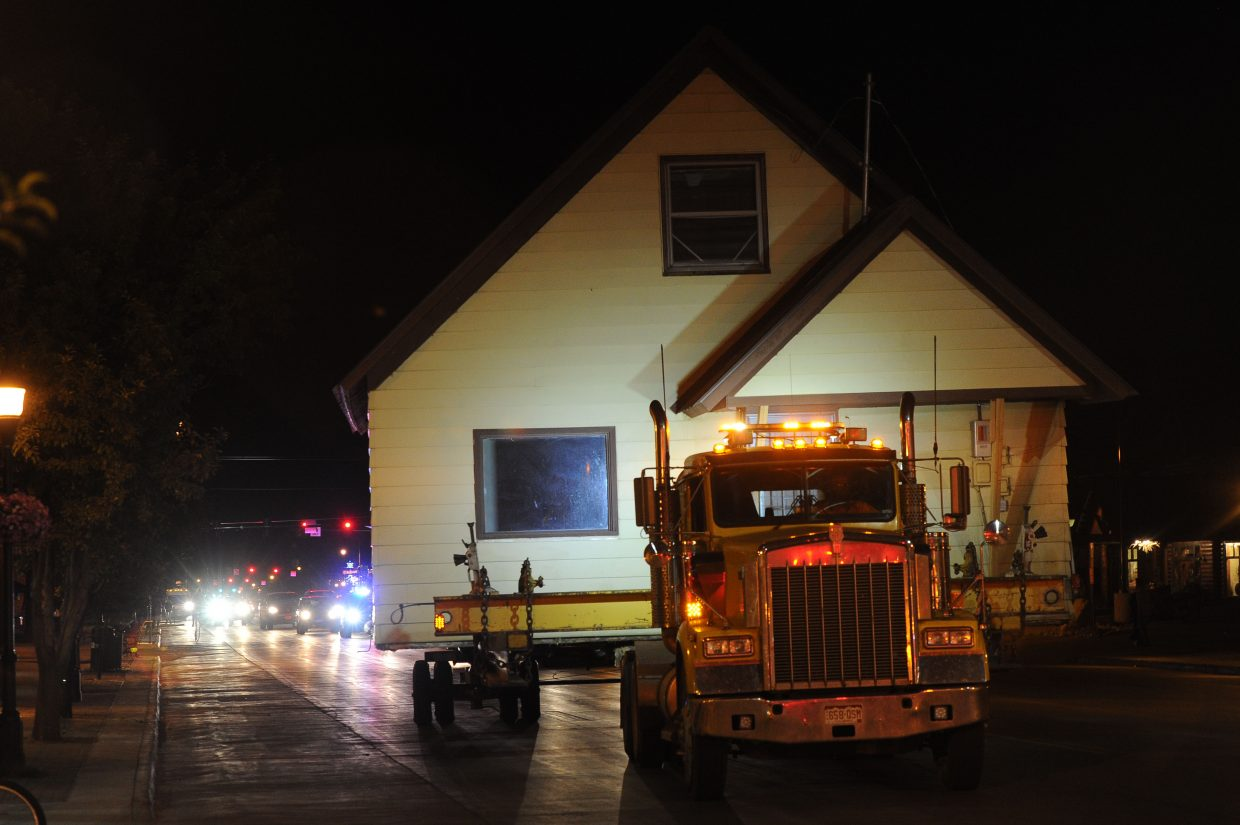 Kelley Conner, the new owner of the Workman house, wanted to thank drivers who had to stop for the house while it was being moved Thursday night and Friday morning