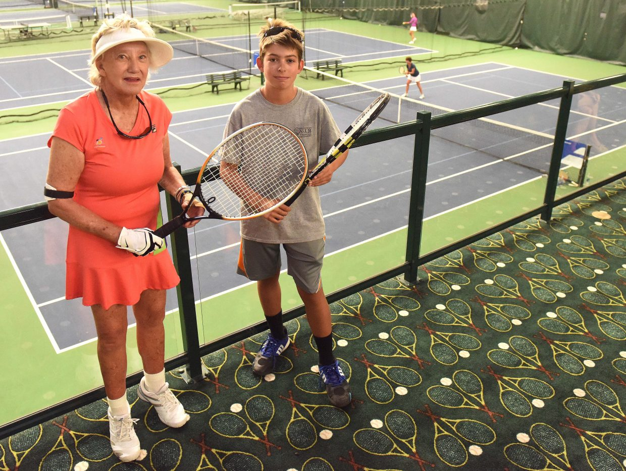 Kathi Skytta and Lucas Sands are 59.5 years apart in age, but they made a talented team Sunday at the Steamboat Tennis Association tournament in Steamboat Springs.