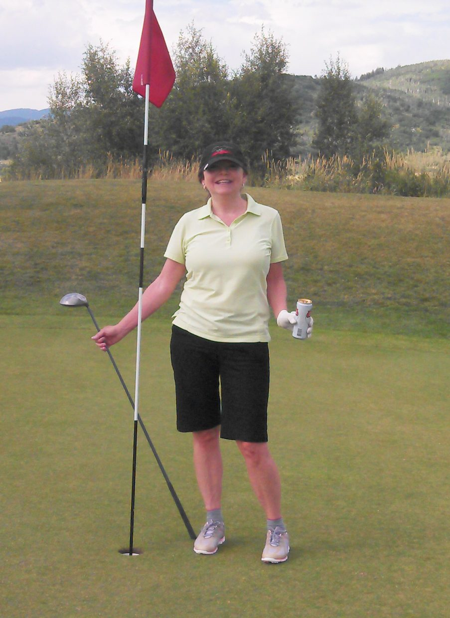 An afternoon round of golf at Haymaker Golf Course yielded one shot Nickie Boos will never forget. She sank a hole in one on No. 7 at the Steamboat Springs course. She was playing with husband, Brian Boos, and neither are regulars on the Steamboat courses, playing eight or 10 times a year. Still, when they came up to the par-3 No. 7, Nickie, not a big swinger, hit a driver 112 yards and straight into the hole.