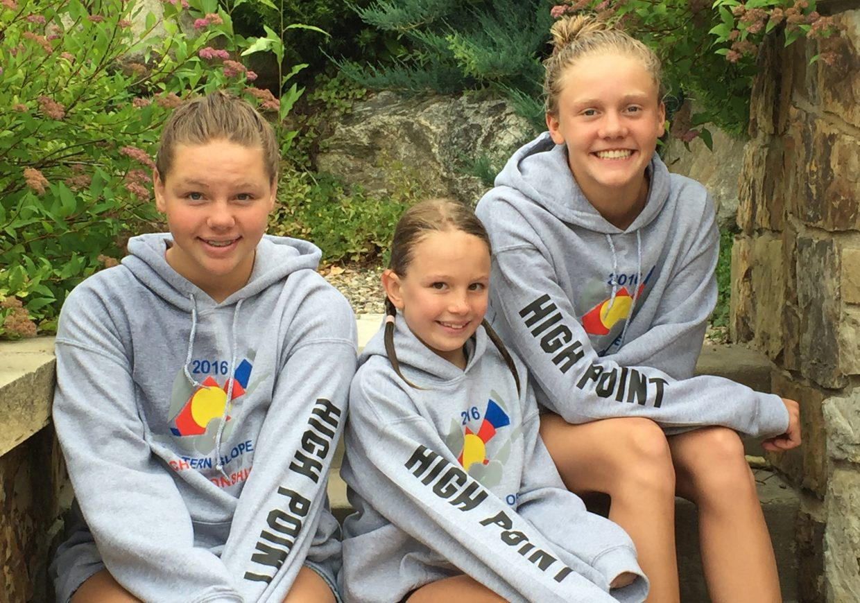 Saige Lottes, Zoe Anfang and Jenna Smith all earned high-point honors in their respective age divisions at the Western Slope Championships in Grand Junction.