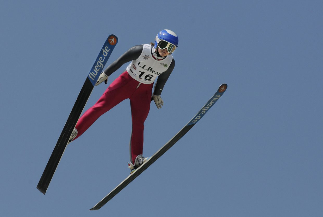 Steamboat Springs ski jumper Logan Sankey soared to third place at the U.S. national championships in Park City.