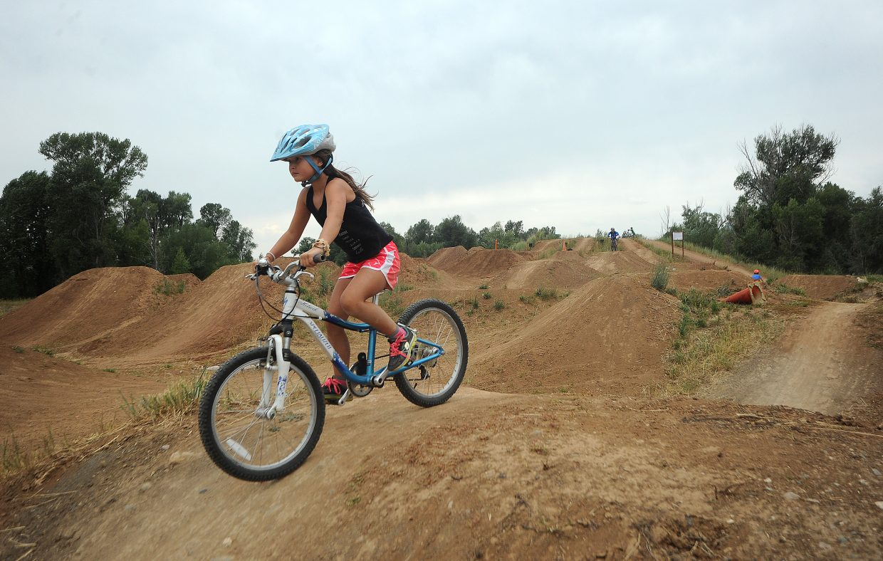 Emma Willson rides the pump track at Bear River Park in 2017. The Steamboat Springs City Council endorsed a plan for the park that calls for more amenities to be added there in the future.