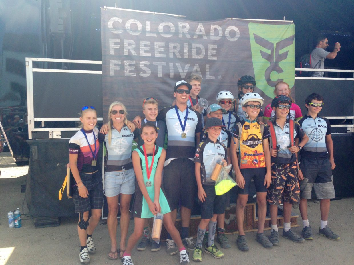 The Steamboat Springs Winter Sports Club contingent poses after riding hard at the Colorado Freeride Festival in Winter Park.