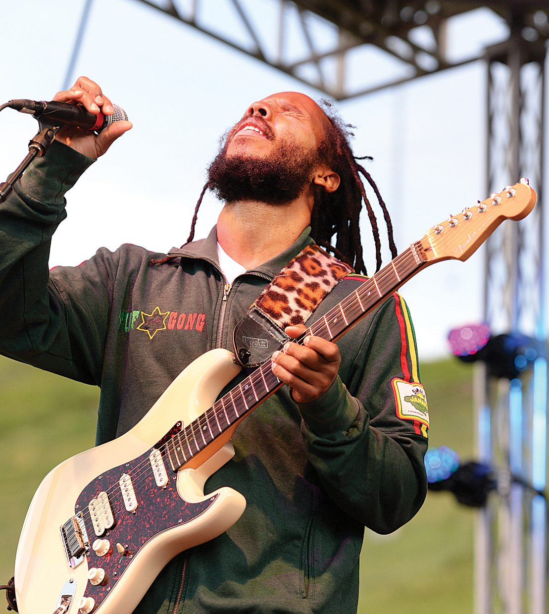 Singer, songwriter and producer Ziggy Marley performs at Howelsen Hill on Wednesday evening. Thousands of people packed the base of Howelsen Hill for the free concert series event.