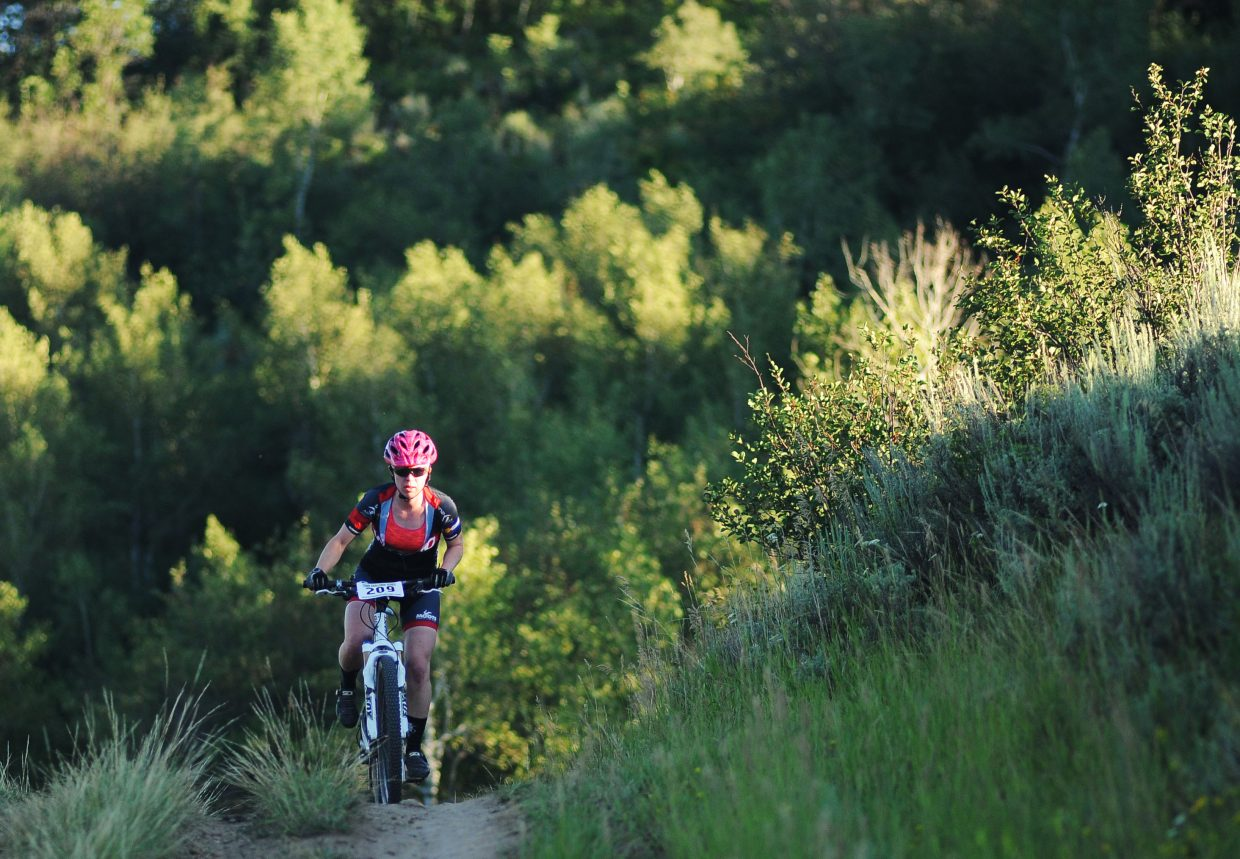 Becky Edmiston rides in a 2017 Town Challenge mountain bike race on Emerald Mountain.Routt County was ranked the 16th in state in the County Health Rankings & Roadmaps report released in March by the Robert Wood Johnson Foundation and the University of Wisconsin Population Health Institute. Routt County was ranked the 16th in state in the County Health Rankings & Roadmaps report released in March by the Robert Wood Johnson Foundation and the University of Wisconsin Population Health Institute.