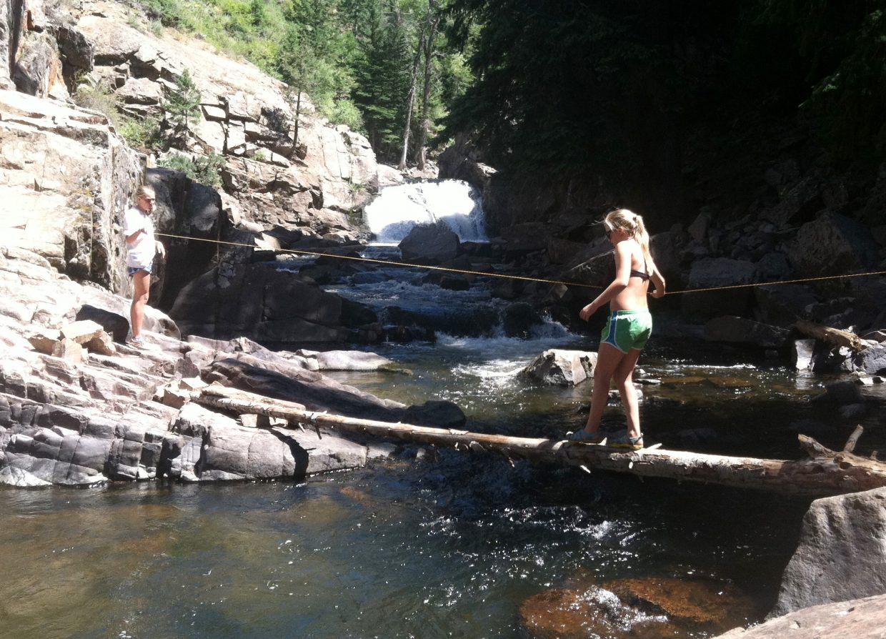 Hiking to King Solomon Falls is one of Routt County's best out-of-the-way hikes.