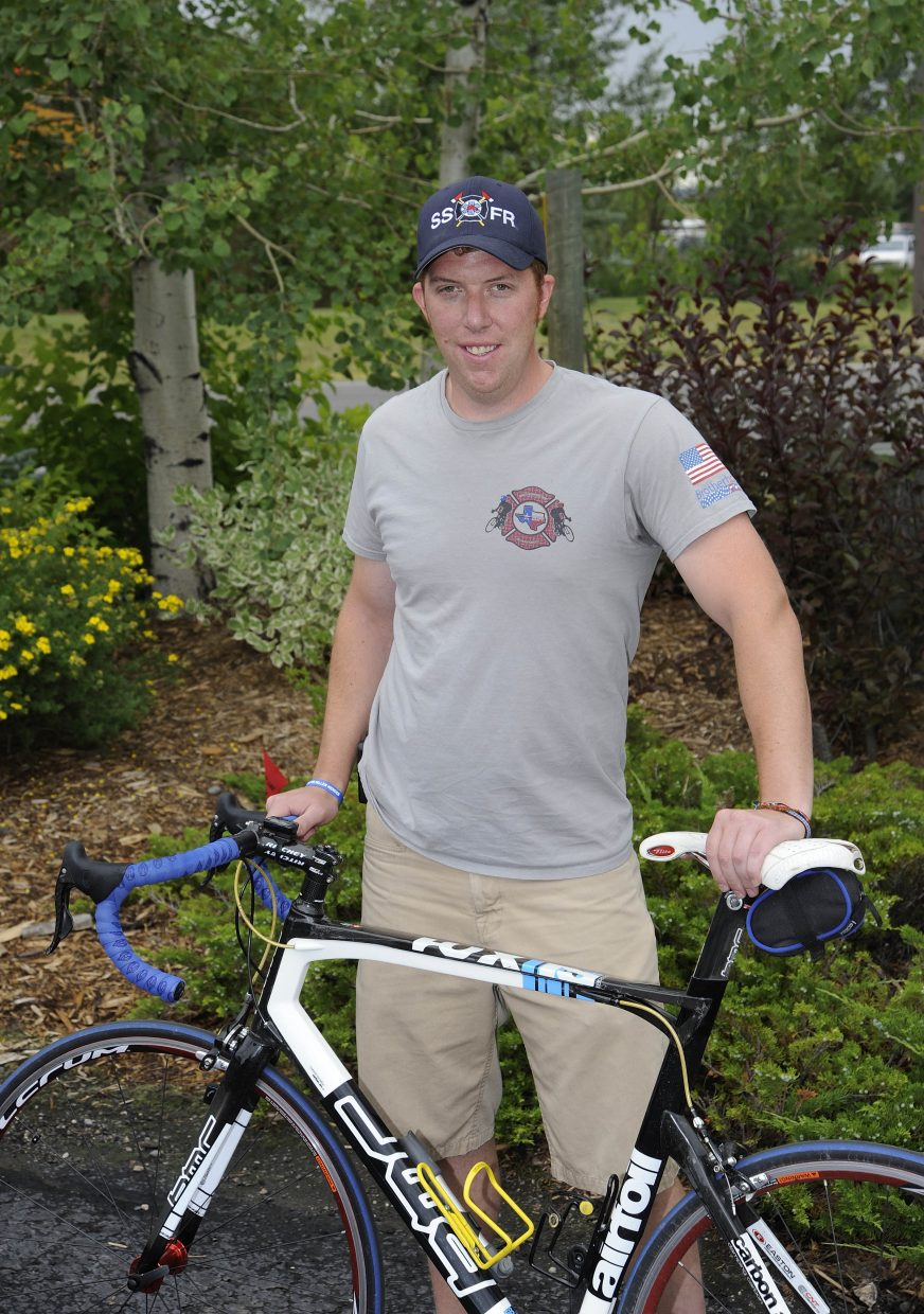 Steamboat Springs Fire Rescue firefighter Craig Malchow will bike more than 500 miles during six days to raise money for the families of fallen firefighters and police officers.