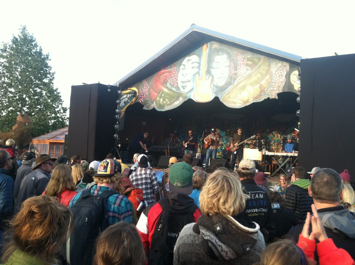 Just like back home, the three-stage outdoor Salmonstock Festival in Ninilchik, Alaska, drew revelers young and wrinkled, from kids in strollers to salmon-fishing septuagenarians.