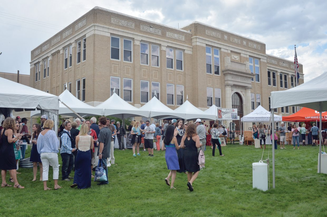 The courthouse lawn was full Friday evening as folks came out to enjoy the Steamboat Wine Festival's Stroll of Steamboat. The Wine Festival will continue Saturday with a number of events, ranging from Hike & Hops at the Four Points Lodge to the Beer-B-Q on Saturday evening at Torian Plum Plaza.