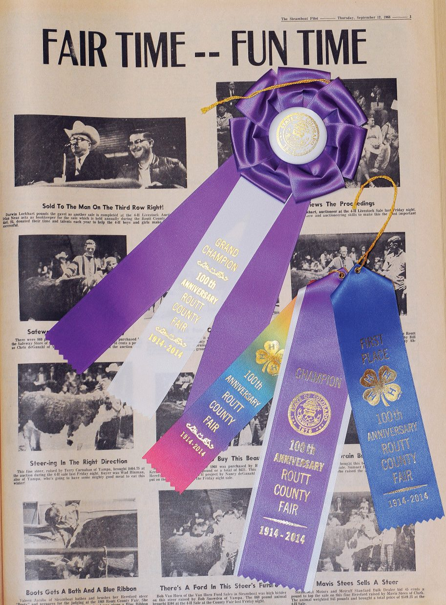 Participants in the 2014 Routt County Fair will be vying to win one of the special 100th anniversary ribbons. Linda Long, Fair Board member and Home Arts/Exhibition Hall superintendent, hopes the commemorative keepsake ribbons will attract a record number of exhibits for this year's fair.