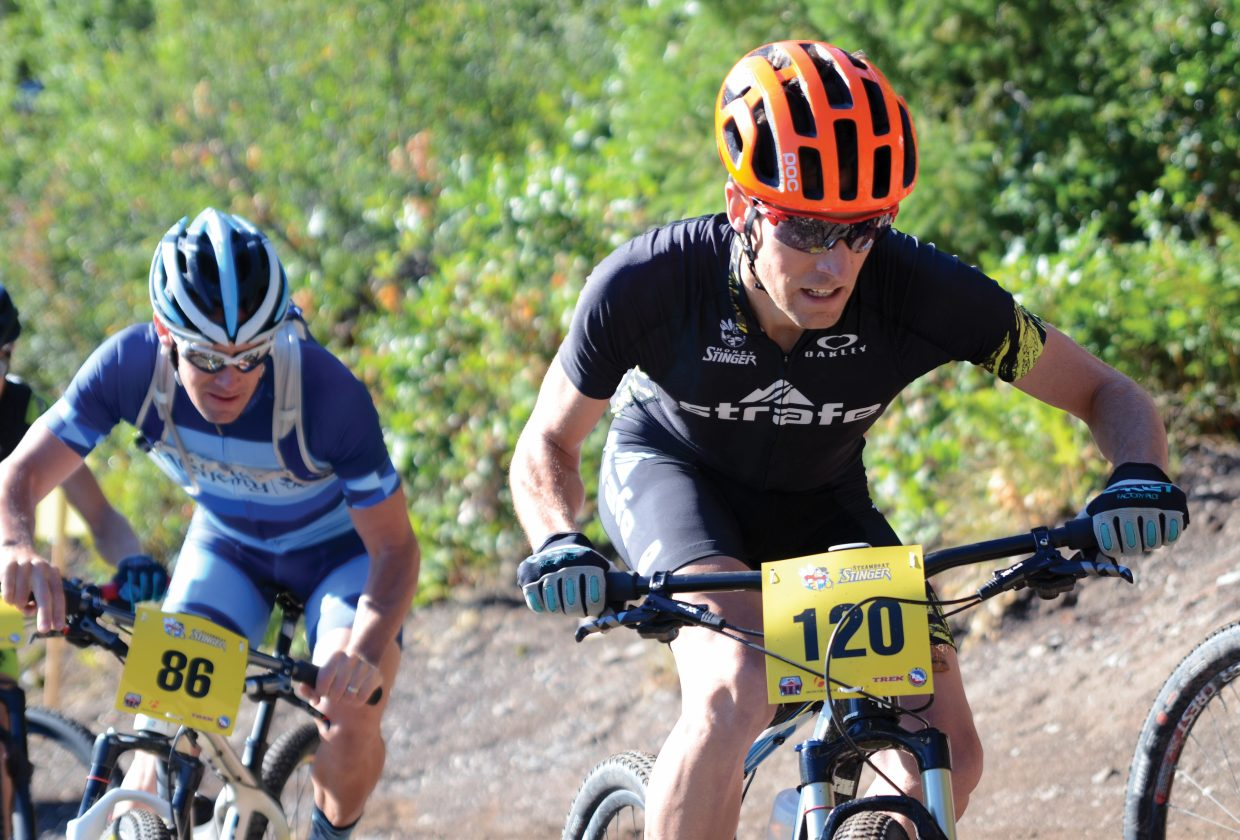 Racers complete a climb in the Steamboat Stinger mountain bike race, which has been held in Steamboat Springs the past six years.
