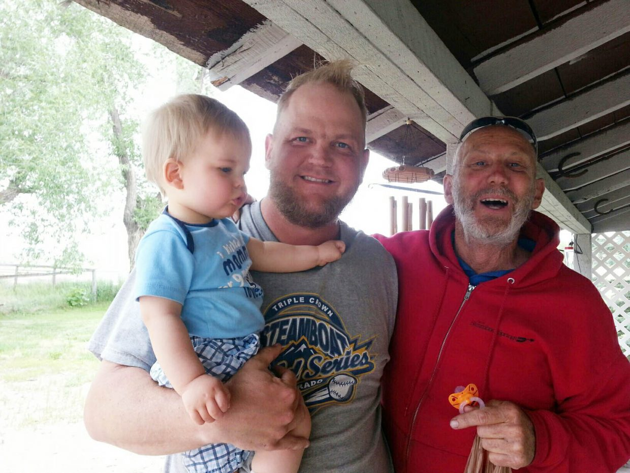 David Girty, right, is pictured with his son, Jacob, and grandson, Nicholas.