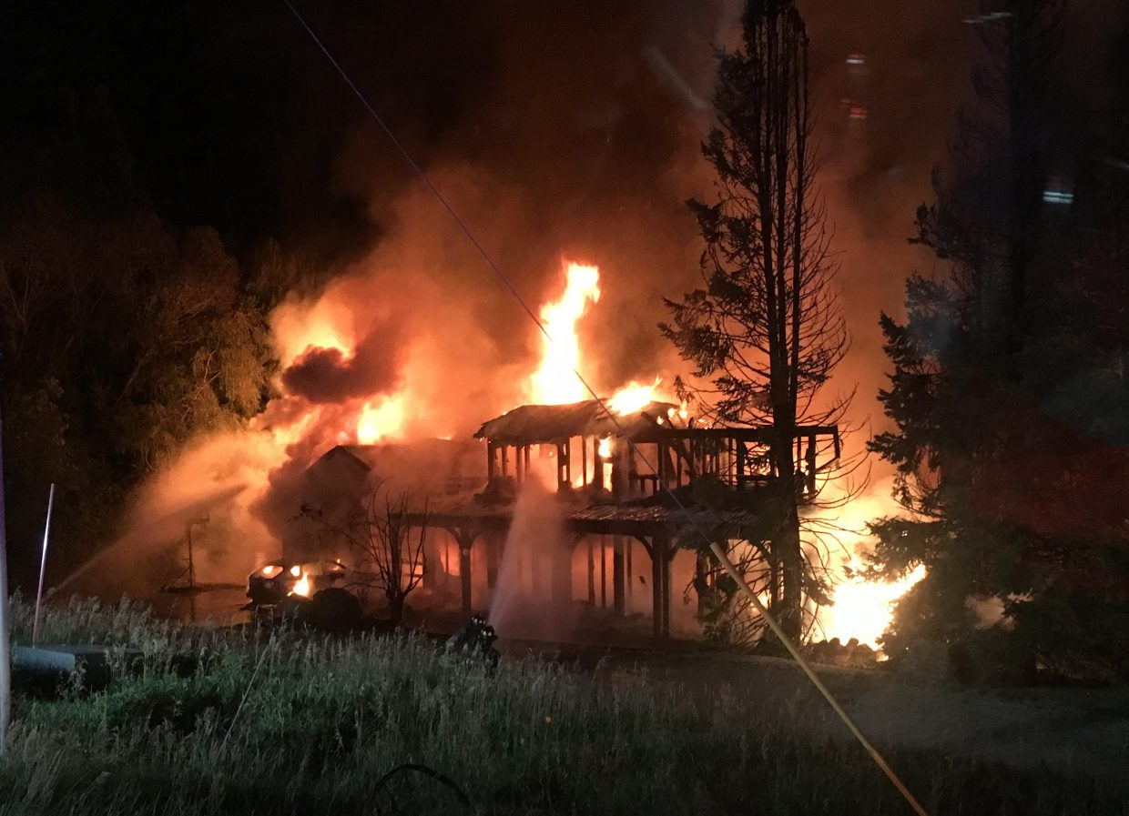 Steamboat Springs Fire Rescue responded early Sunday morning to a structure fire in the 1800 block of Fish Creek Falls Road.