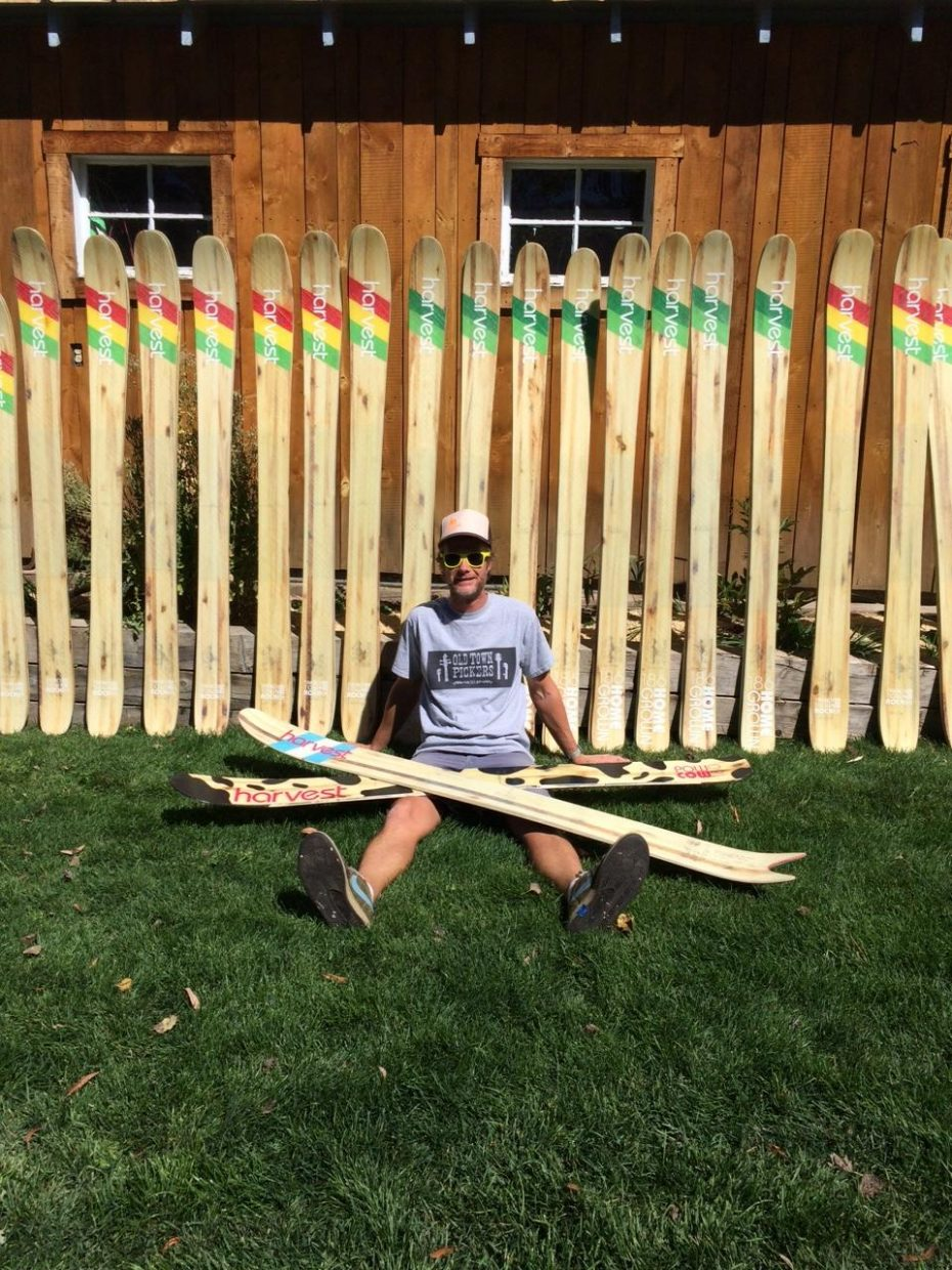 Eric Baker has manufactured more than 70 pairs of skis using locally harvested aspen, fir and maple for his line of Harvest Skis.