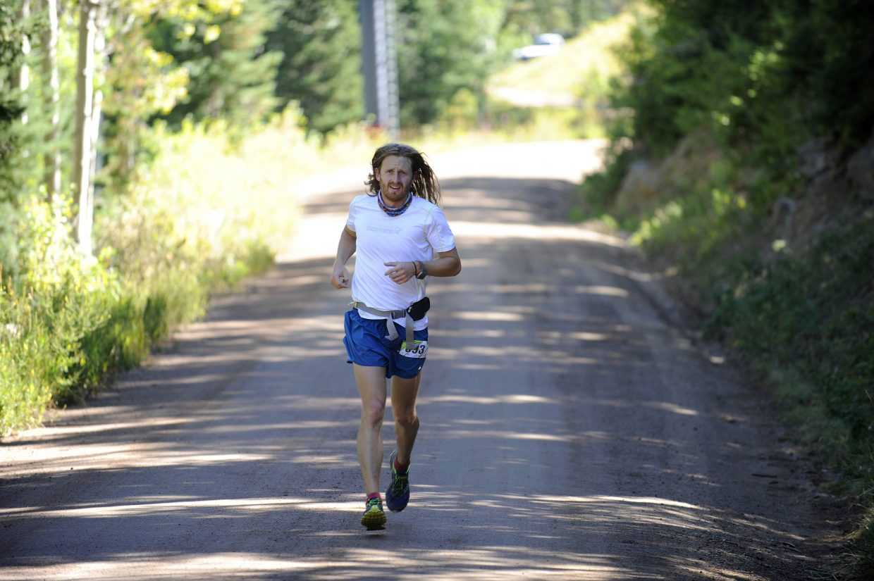 Steamboat Springs runner Josh Robertson competes in the Continental Divide Trail Race on Saturday. Robertson finished second in the 50-kilometer race.