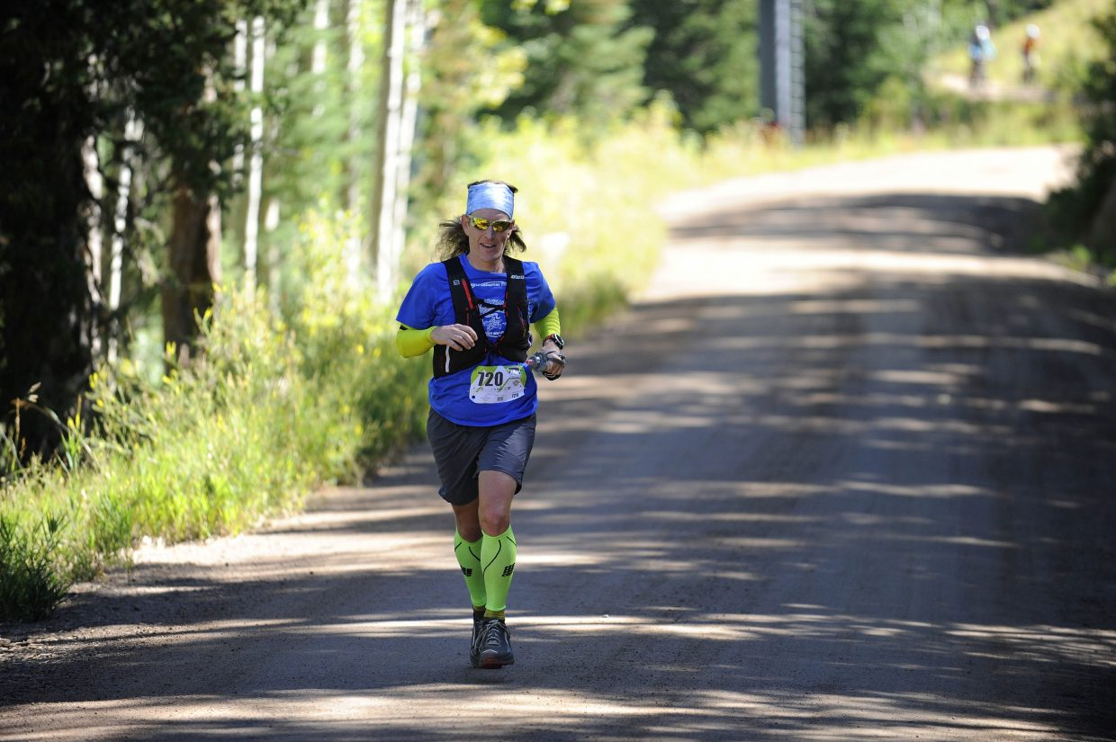Steamboat Springs runner Chris Bellows competes in the Continental Divide Trail Race on Saturday.