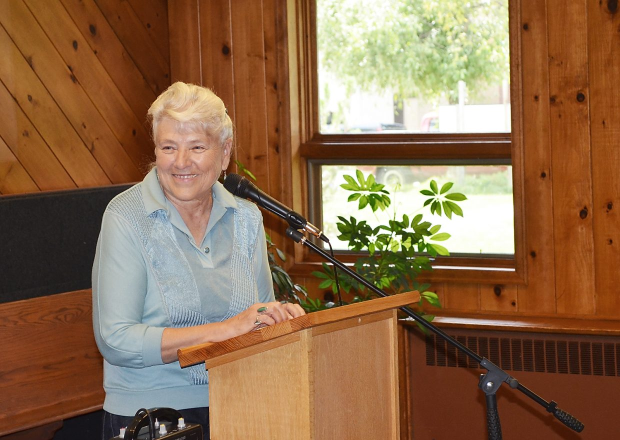 Lifelong Routt County Rancher Linda Long talked to an audience at United Methodist Church of Steamboat Springs on Friday about the work ethic passed along through six generations of her family. She spoke during the final Brown Bag Lecture of the summer hosted by the Tread of Pioneers Museum.