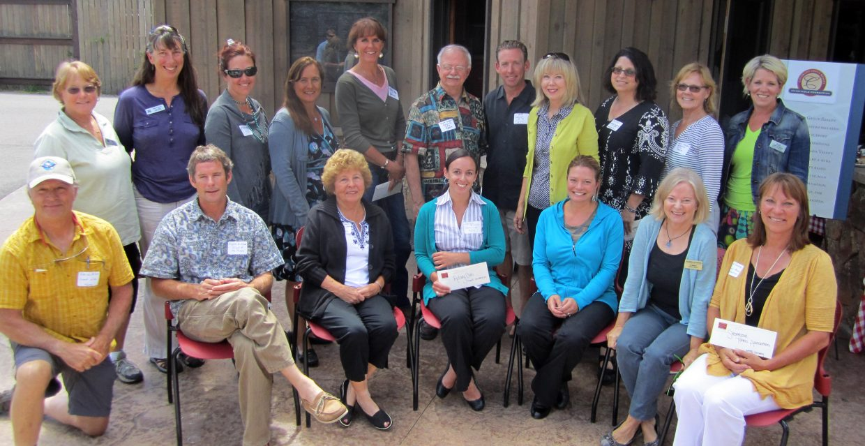 The Colorado Group Realty Charitable Foundation awarded $23,500 in grants to 15 local organizations Aug. 20. Shown are the directors and/or board members from the organizations that received money this year.