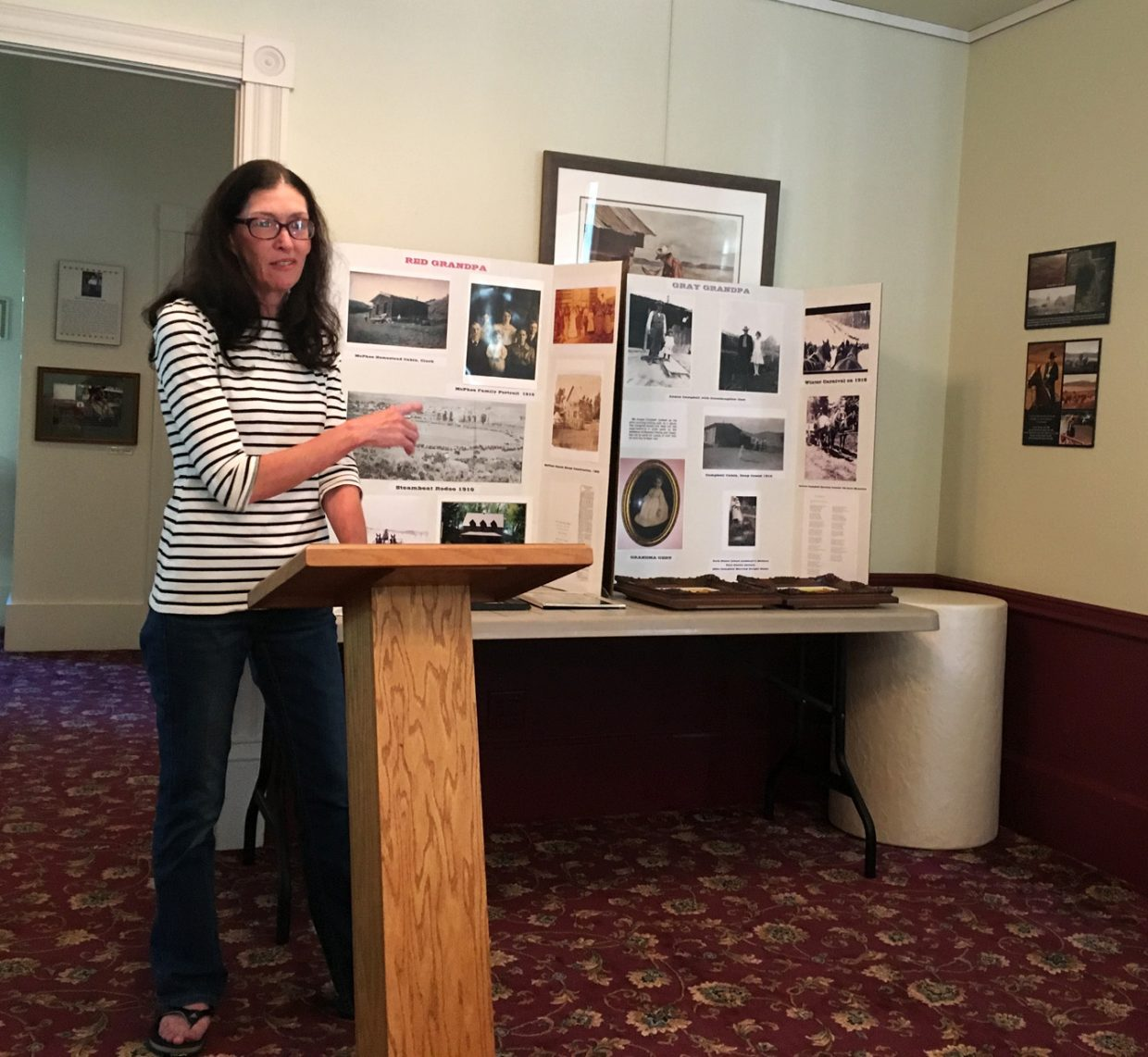Shaunna Watterson served her audience at the Tread of Pioneers Museum lemon ice similar to the variety her grandmother used to make before speaking about her family's pioneer history in Routt County during the penultimate entry in the 2016 Brown Bag Lecture Series.