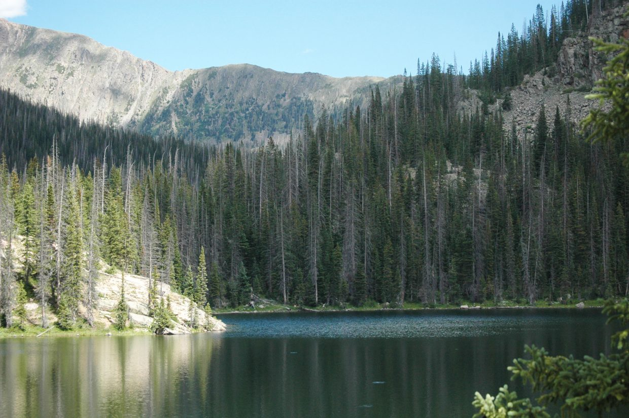 Gold Creek Lake ended up being a great option for first-timers looking for a backpacking trip. Camping is only allowed 1/4-mile away from the lake, however.