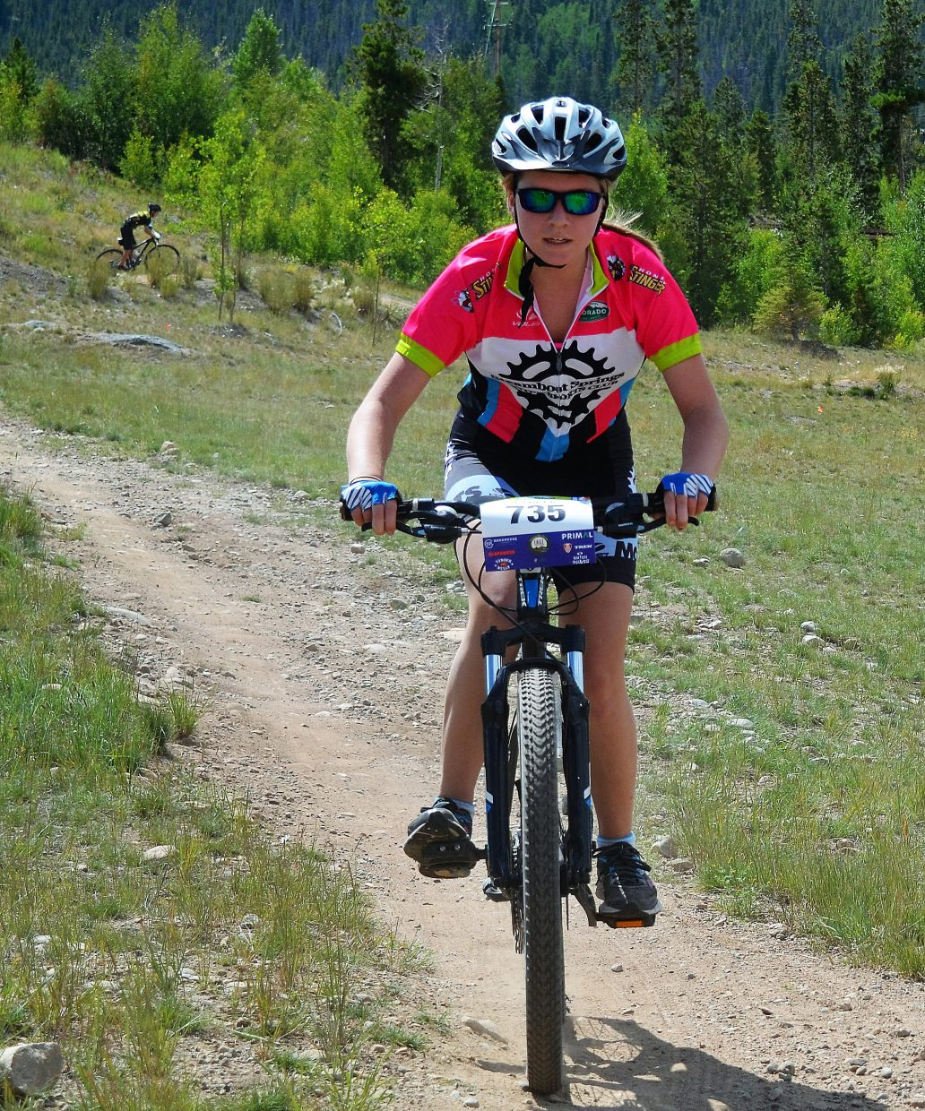 Steamboat Springs mountain biker Parker Seibel rides Saturday during a Colorado High School Cycling League race in Frisco. Siebel was 22nd in the girls junior varsity race.