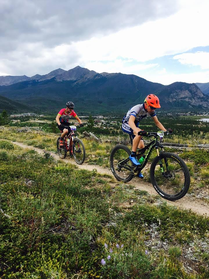 Steamboat Springs mountain biker Grant Pohlman, left, works his way down the trail Saturday at the season's first race for the Colorado High School Cycling League. Pohlman was 35th in the boys junior varsity race.