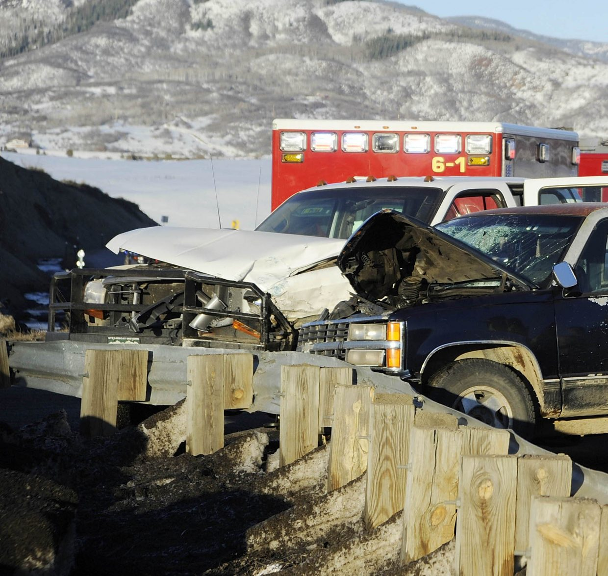 No life-threatening injuries were reported in this 2016 crash into a guardrail at U.S. Highway 40 and Routt County Road 42.