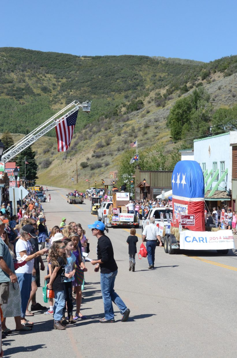 Hundreds lined Main Street in Oak Creek for the annual Labor Day parade Monday.