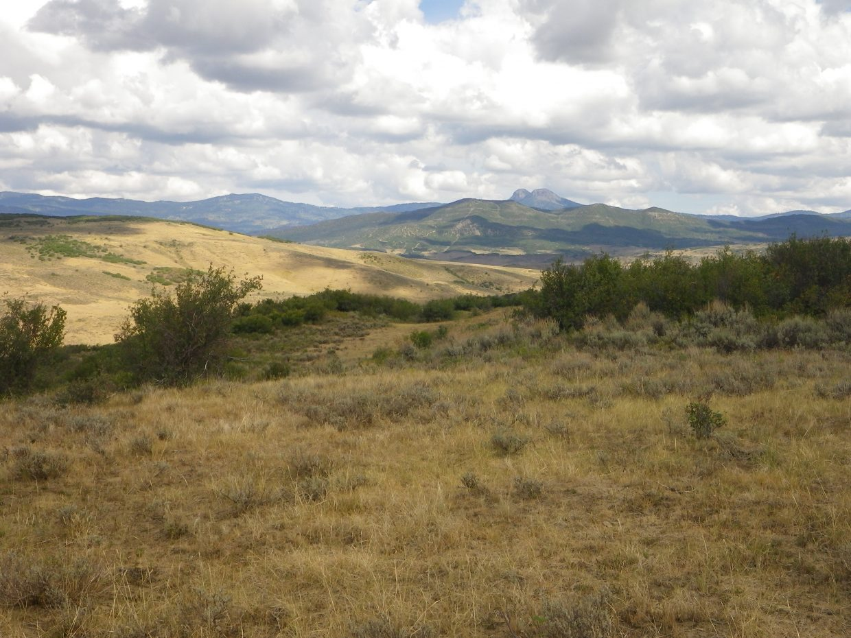 The hilltops on the Dry Fork section of Smith Rancho afford views of Saddle Mountain. On June 2, the Routt County Board of Commissioners approved $696,000 conservation project to protect about 4,000 acres on the local ranch.
