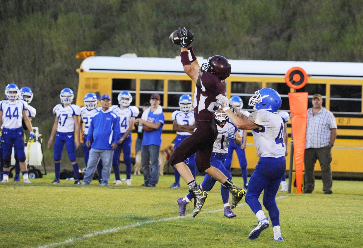 Soroco's Kendall Hood makes a catch during Friday's game against Norwood High School.