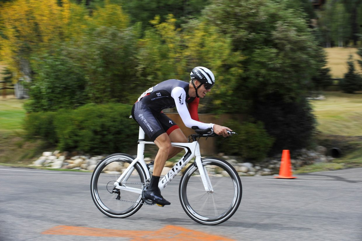 Jonathan Smela competes in the Steamboat Stage Race time trial event Saturday. The Stage Race continues today with the road race.