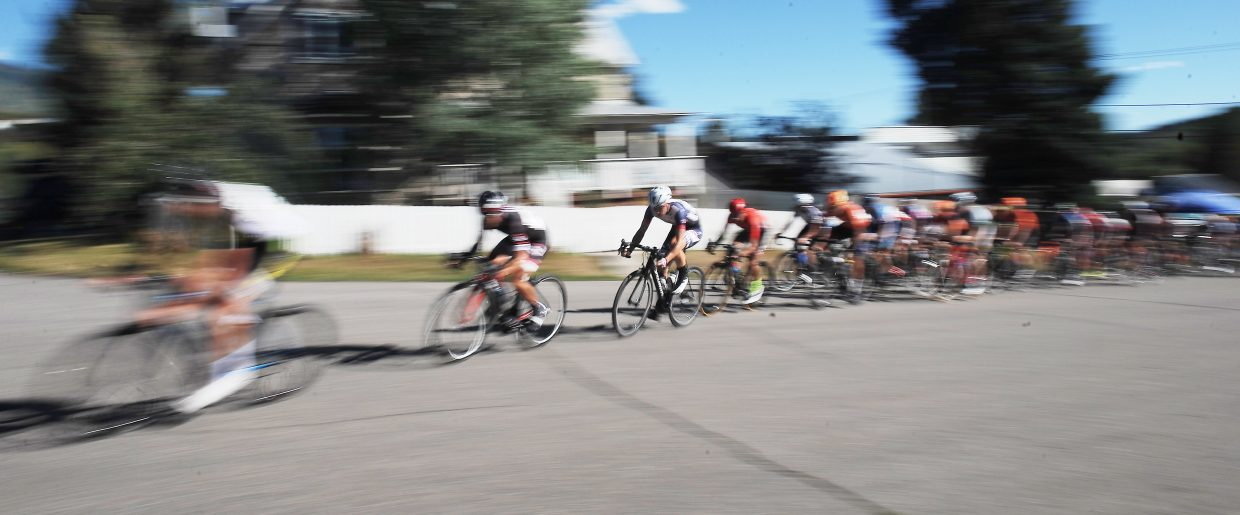 The men's pro field flies by on Monday at the Steamboat Stage Race.