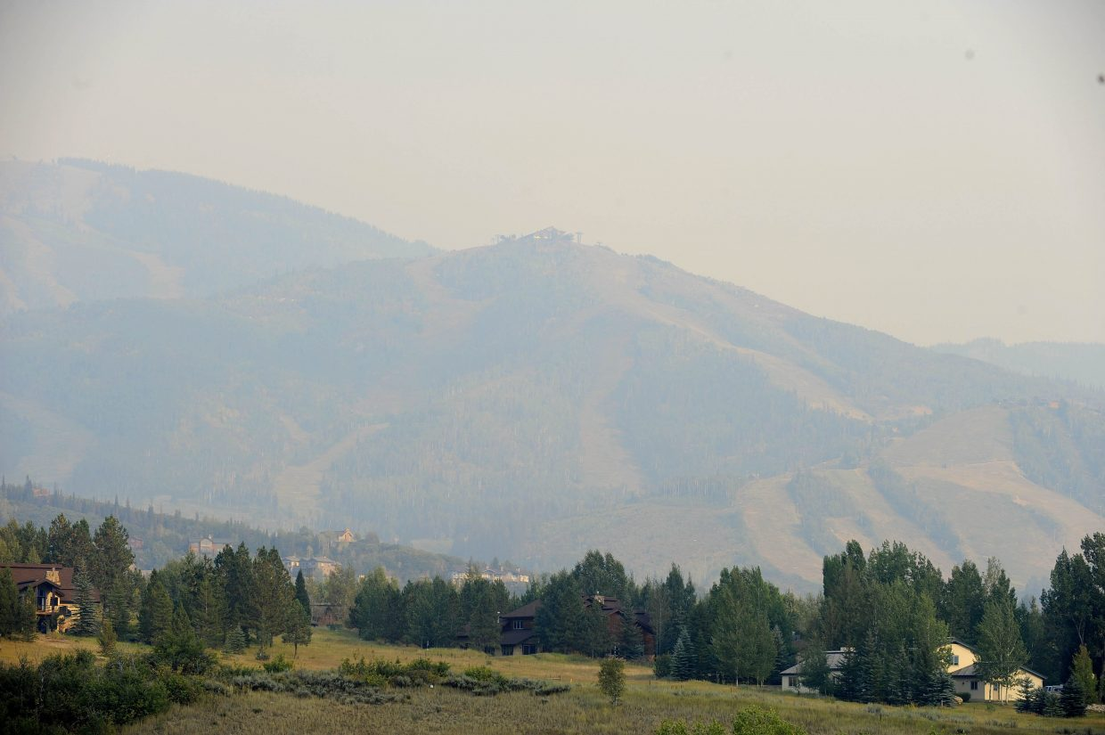 Strong southwest winds ushered in smoke to the Yampa Valley from a wildfire burning in Garfield County in the Flat Tops Wilderness.
