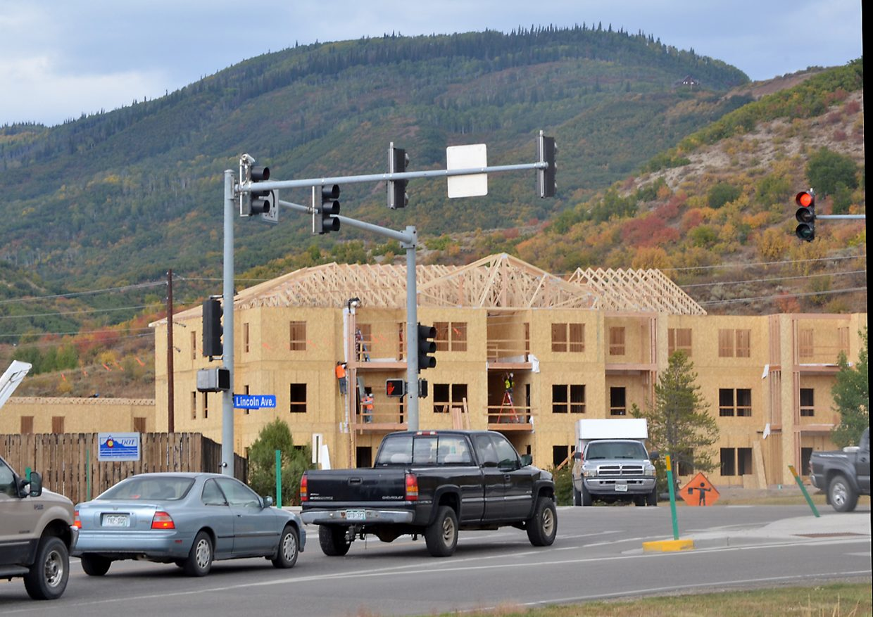 Construction of The Reserves, a new income-restricted affordable apartment project, is transforming the view of one of the busiest intersections in Steamboat at U.S. Highway 40 and Elk River Road.
