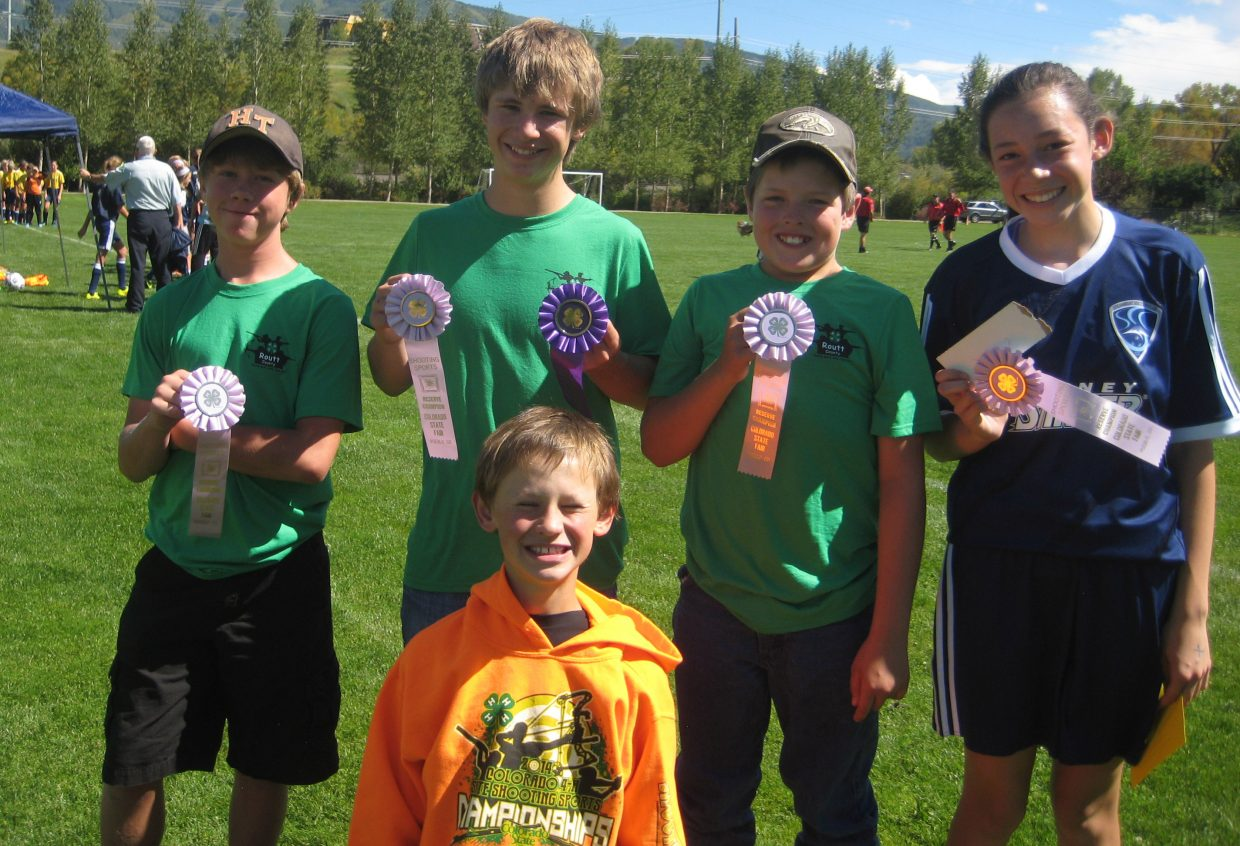The Routt County 4-H shooting sports archery team had plenty to show for its trip to the 4-H state championships. It came away with a individual championship for Harrison Ashley in the compound limited junior and a second-place finish for the squad in the compound limited junior team competition.