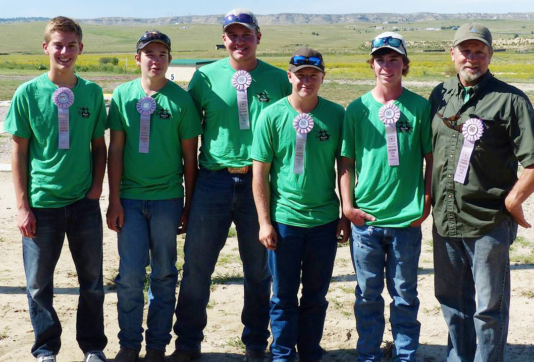 The Routt County 4-H senior sporting clays team placed second at the state championships. The team was, from left, Grant Birkinbine, Richard Hallenbeck, Logan Bankard, Jonathon Ely, Hunter Mihaich and coach Dan Bankard.