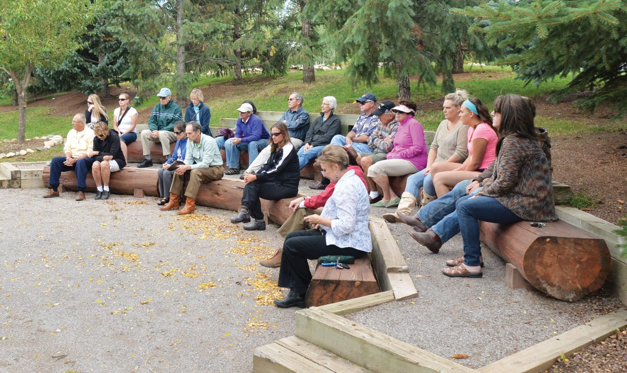 Steamboat Springs residents gathered Thursday evening at the Yampa River Botanic Park amphitheater for 15 minutes in memory of those who died on that day. The 15-minute ceremony included music, but no words.