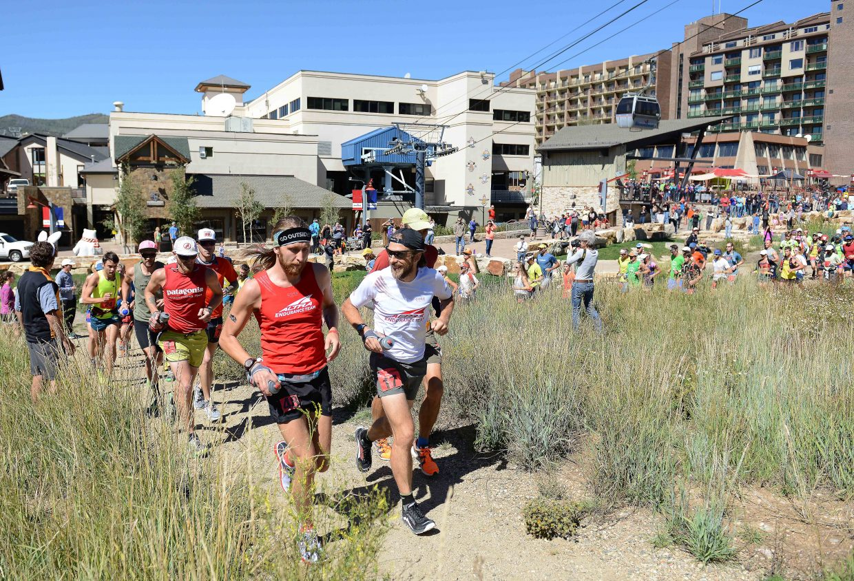Only 99 miles, and some 5,100 odd feet to go for the runners in the hare division of the 100-mile-long Run, Rabbit Run ultramarathon. The racers started at noon Friday. Tortoise division racers started at 8 a.m., and the groups, about 450 in total, spent the rest of the day crisscrossing the valley, logging miles on and above Steamboat Ski Area, in Fish Creek Canyon, on Emerald Mountain and along Buffalo Pass. The lead runners should finish early Saturday morning.