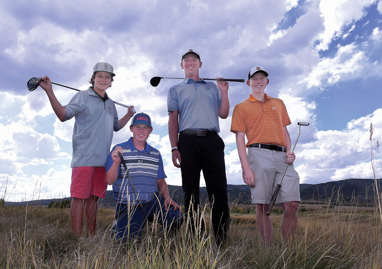 Golfers, from left to right, Tommy Henninger, Jack Rotermund, Jacob Taulman and Nolan Sankey represented Steamboat Springs High School at the Regional Golf Tournament Monday in Fruita.